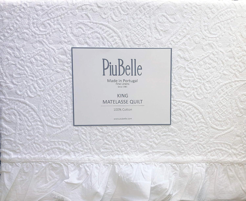 220 x 250 cm 100 /% coton Violet//violet Franges faites /à la main Belle Living Couvre-lit gaufr/é de qualit/é sup/érieure Id/éal pour lit et canap/é