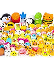 WATINC Random 50 Pcs Squishy Toy Cream Scented Slow Rising Kawaii Simulation Lovely Toy Jumbo Medium Mini Soft Stress Relief Foam Toy, Phone Straps (WT-Squishy 50Pcs)