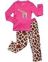 Leveret Girls 2 Piece Pajama Cotton Top & Fleece Pants (Size 2-14)