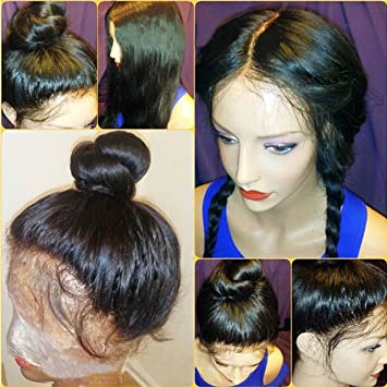 Amazon.com : Pre Plucked Glueless Lace Front Wigs Brazilian Virgin ...
