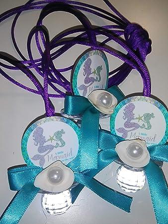 Amazon.com: 24 collares de perlas de sirena para bebé ...