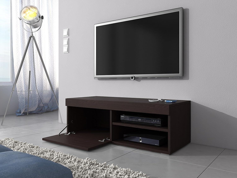 Mueble TV Soporte Mambo roble Marrón Oscuro (wengué) 120 cm ...