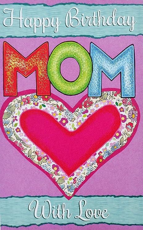 Amazon.com: Feliz cumpleaños mamá con amor tarjeta de ...
