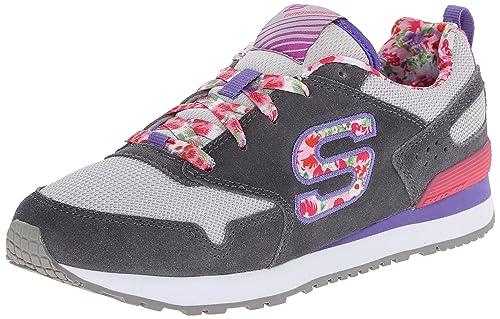 35c73721045a Skechers Girls  Retrospect-Floral Fancies Low-Top Sneakers  Amazon ...