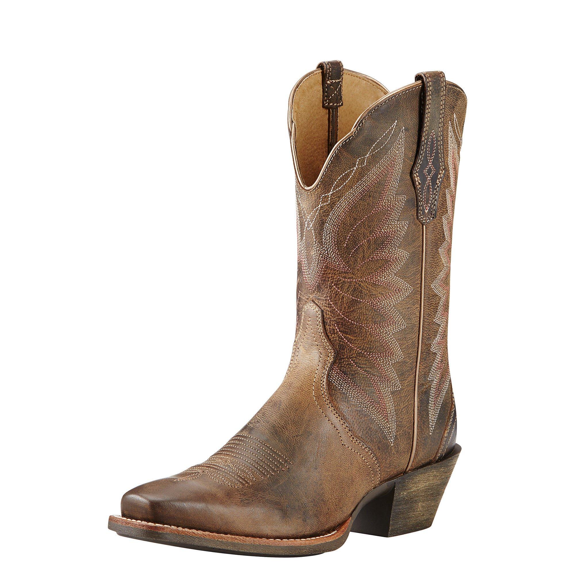 Ariat Women's Autry Western Cowboy Boot, Woodsmoke, 8 B US