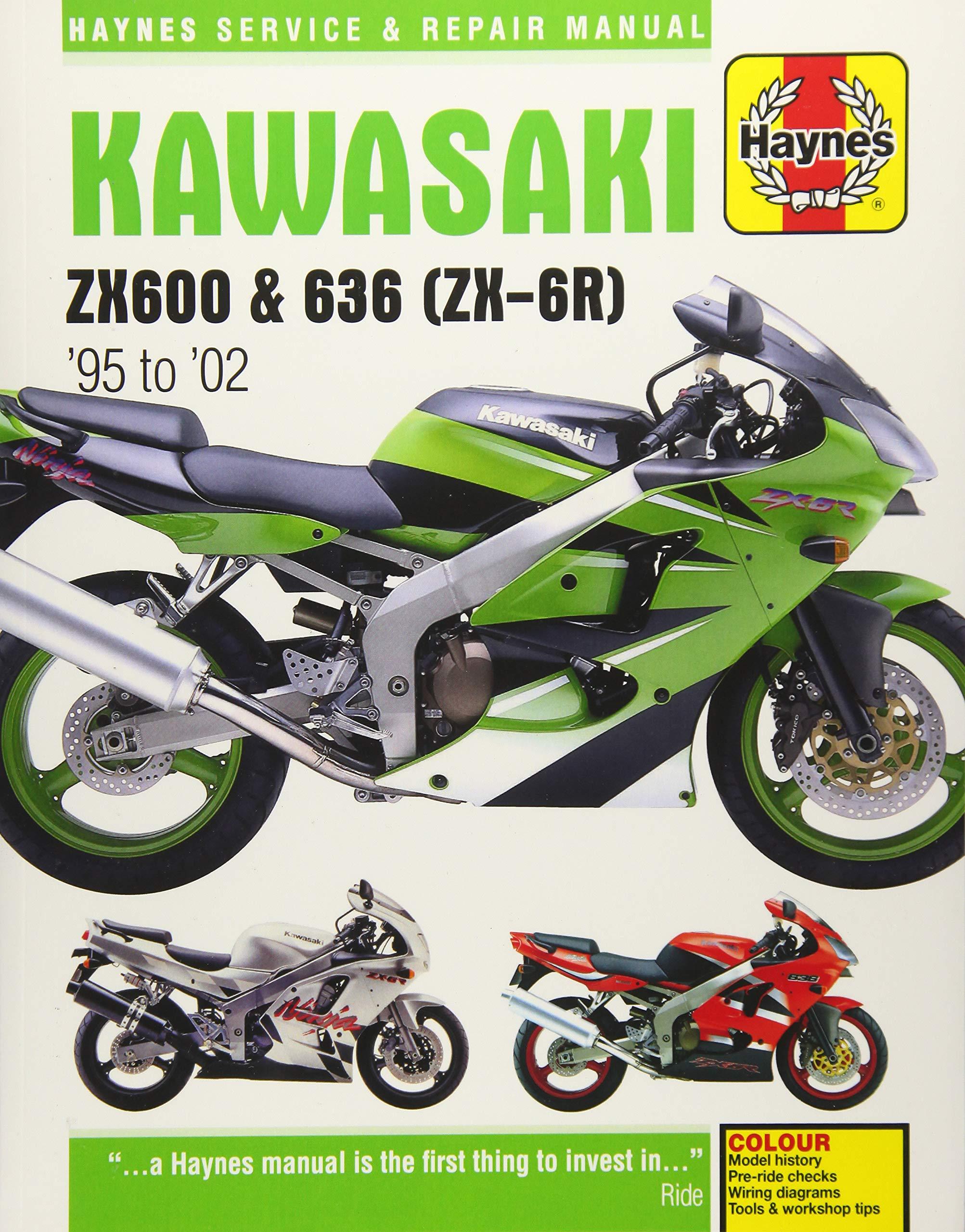 Kawasaki ZX600 & 636 (ZX-6R) '95 to '02 (Haynes