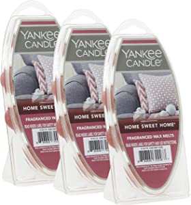 Yankee Candle Home Sweet Home Wax Melts, 3 Packs of 6 (18 Total)