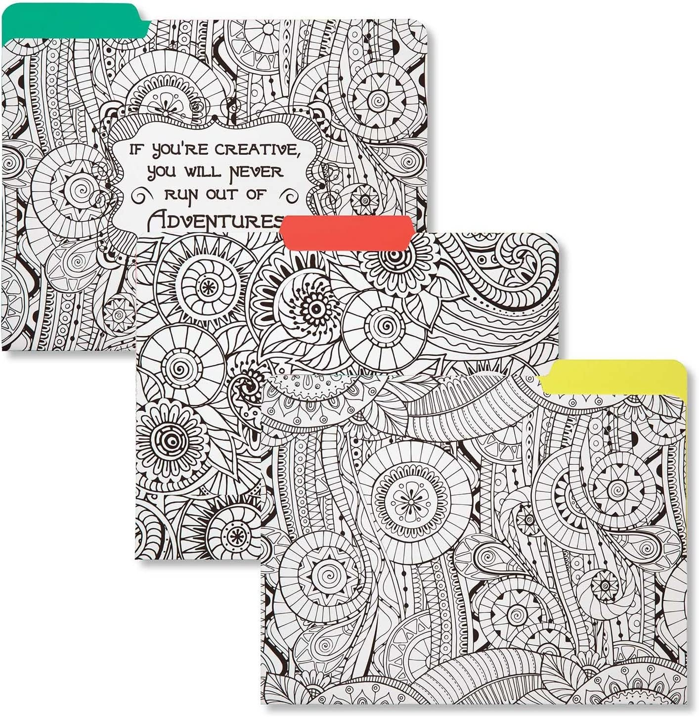 C.R. Gibson 9-Count Coloring File Folders, Explore (COCF-16887)