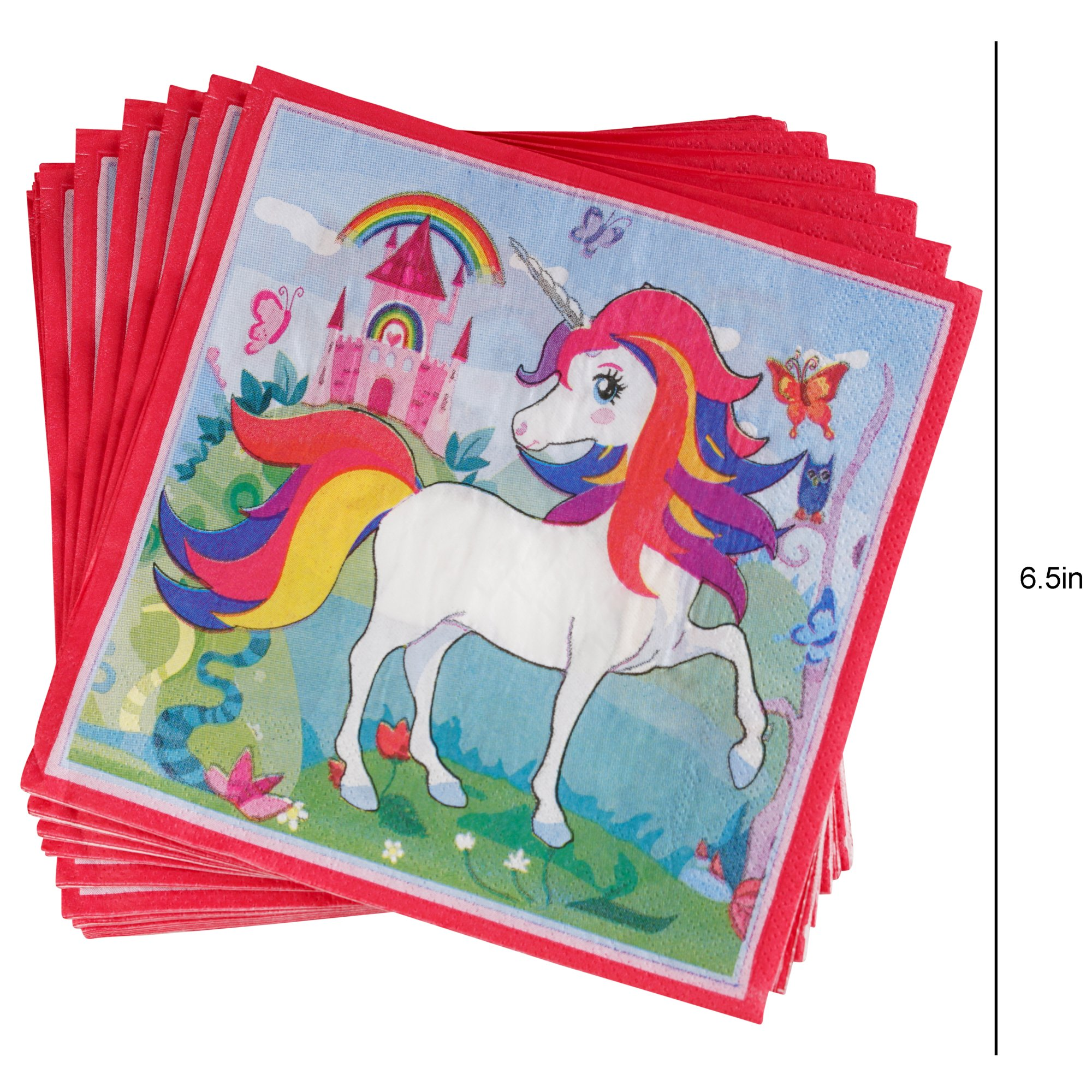 82 Piece Unicorn Party Supplies Set Including Banner, Plates, Cups, Napkins and Tablecloth, Serves 20 by Scale Rank (Image #7)