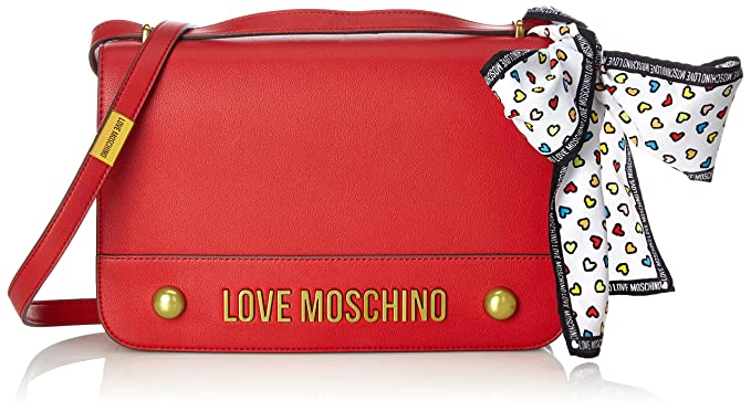 f099fa3b3d Love Moschino Nappa Grain Pu Rosso, Women's Shoulder Bag, Red, 6x19x28 cm (