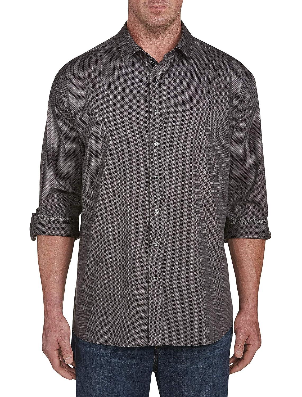 Synrgy by DXL Big and Tall Diamond Print Sport Shirt