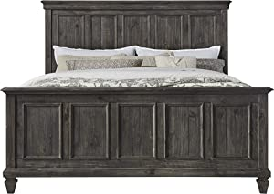 Magnussen Calistoga Panel Bed, King, Weathered Charcoal