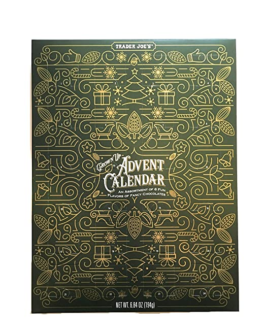 Trader Joe's Grown Up Advent Calendar with Assorted Fancy Chocolates