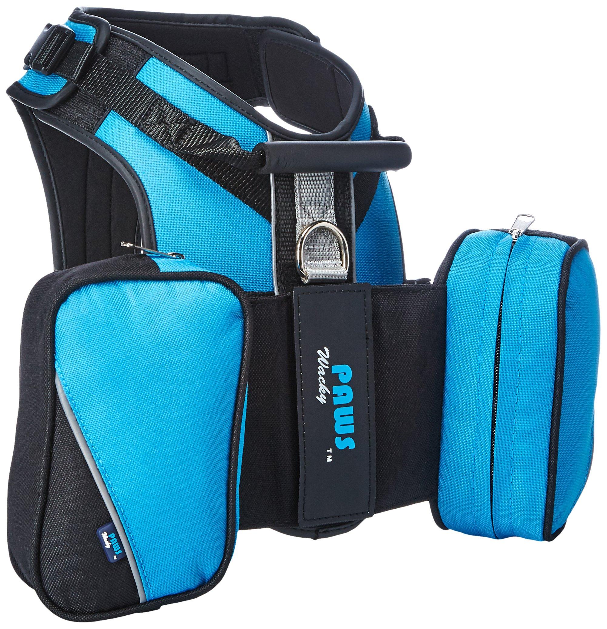Wacky Paws Pet Sport Travel Harness, Medium, Blue