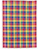 Halbleinen-Geschirrtuch, KRACHT,Trockenperle vollbunt bunt, 50x70