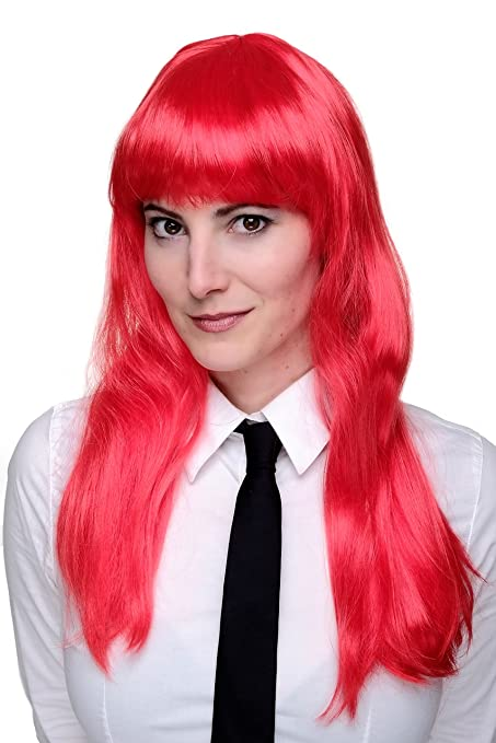 Party/Fancy WIG ME UP - Peluca ROJO sexy, VAMPIRESA, rojo fuego,