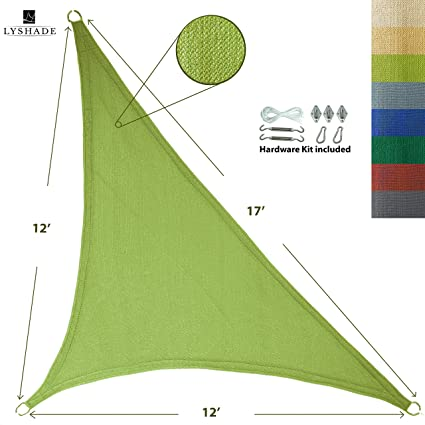 Amazon.com: LyShade - Toldo triangular derecho con kit de ...