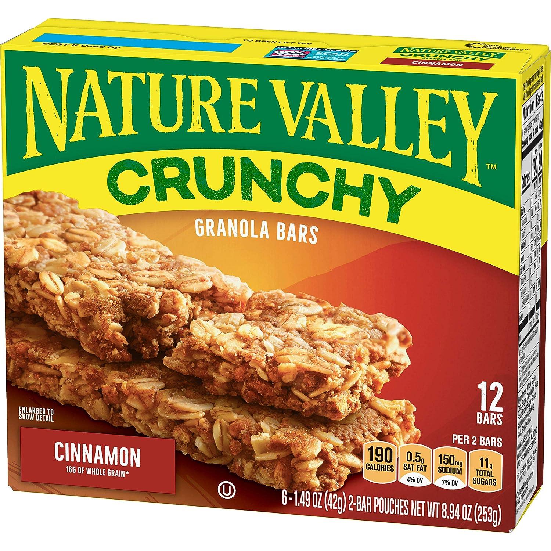 Nature Valley Granola Bars, Crunchy, Cinnamon, 8.94 oz (12 Bars)