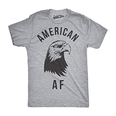 Amazon.com: Mens American AF Funny Tshirts Fourth of July Novelty ...