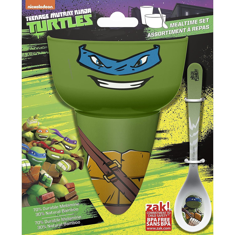 Zak Designs Teenage Mutant Ninja Turtles Kids Cereal Bowl, Tumbler and Spoon Set, Ninja Turtles
