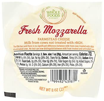 Whole Foods Market Certified Vegetarian Mozzarella Cheese
