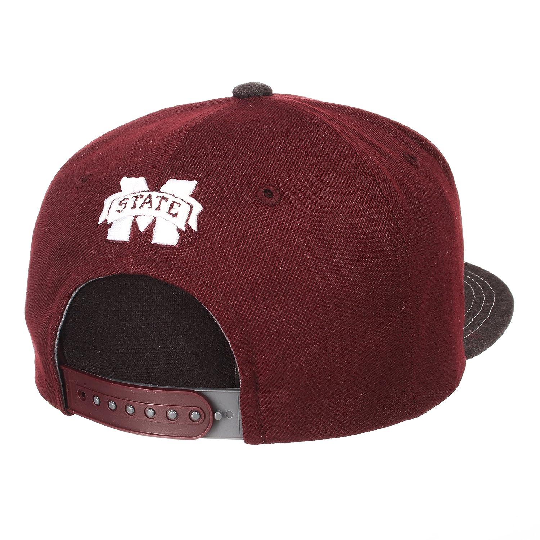 Adjustable Gray//Team Color Zephyr Adult Men Jock NCAA Snapback Hat