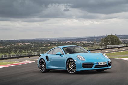 Porsche 911 Turbo S Coupe (991) (2016) Car Print on 10 Mil