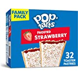Kellogg's Pop-Tarts Frosted Strawberry Toaster Pastries, Fun Breakfast for Kids, Family Pack, (32 Toaster Pastries), 54…