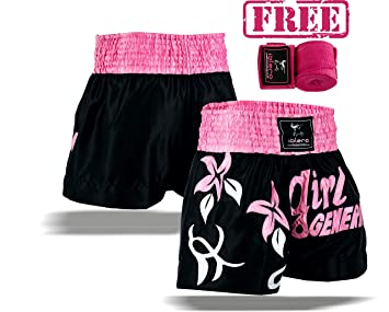 Muay Thai Fight Shorts Pink MMA Kick Boxing Training Martial Arts UFC Women Kick