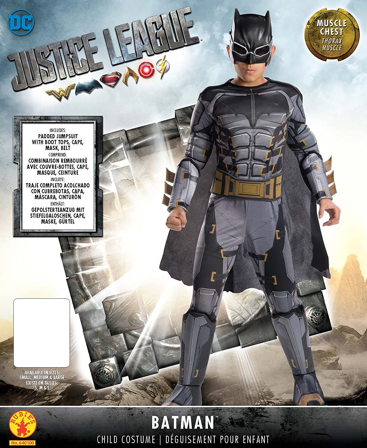 Amazon.com: Rubies Costume Boys Justice League Deluxe Tactical Batman Costume, Large, Multicolor: Toys & Games