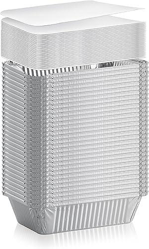 DCS Deals 50-Pack Heavy Duty Disposable Aluminum Oblong Foil Pans