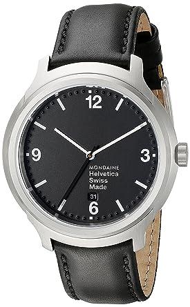 Mondaine - Reloj de Pulsera para Hombre XL Helvetica No1 Bold analógico de Cuarzo Piel mh1.b1220.LB: Amazon.es: Relojes