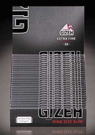 2 Boxen à 26 Gizeh Black Blättchen Tips King Size Slim Extra Fine