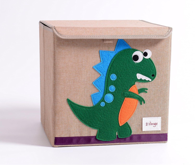 TruReey Falt-Aufbewahrungsbox mit Deckel, stabil, klappbar, leicht zu reinigen und zu organisieren, Spielzeug-Aufbewahrungsbox, Stoff, 33x 33x 33cm. Biene