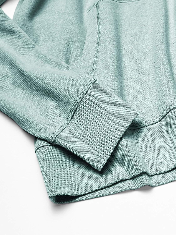 Fashion-Hoodies Uomo Essentials Felpa Leggera in Spugna Francese con Cappuccio