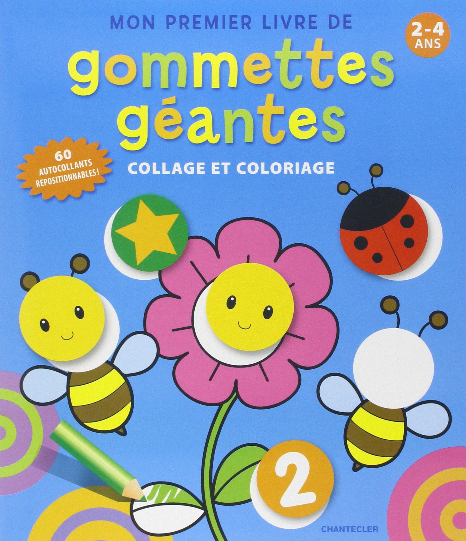 Mon Premier Livre De Gommettes Geantes Collage Et Coloriage