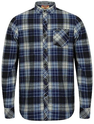 Tokyo Laundry Men's Nashwille Cotton Checked Long Sleeve Shirt Size S-XL:  Amazon.co.uk: Clothing