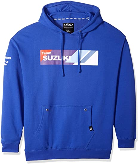 FX SUZUKI Team Blue Pullover Hoodie Heavyweight Fleece Hooded Sweatshirt