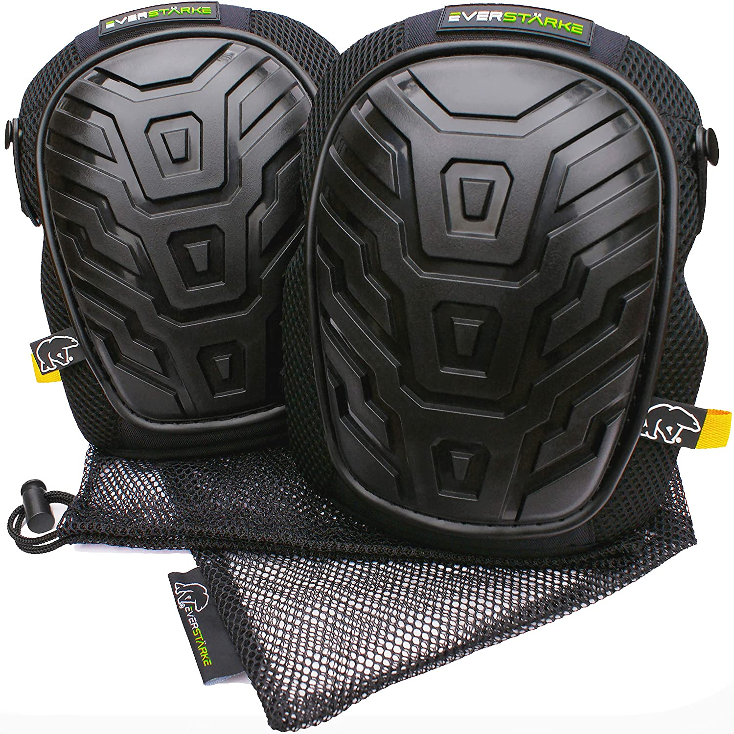 Everstä rke Premium Professional Knee Pads - Comfortable Heavy Duty Foam and Soft Gel Core - Non-Slip Adjustable Neoprene Straps - Protection for Construction Work, DIY, Gardening, Flooring, Tiling Everstärke UK