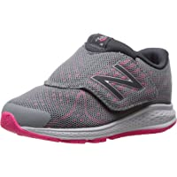 New Balance Girls' Kvrus Running Shoe, Grey/Pink