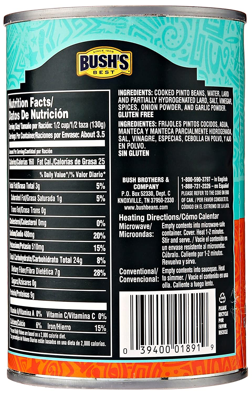 Amazon.com : Ao Brds Bushs Best Traditional Refried Beans ...