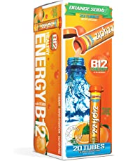 Zipfizz Healthy Energy B12 Drink Mix, Orange Soda, 20-Count