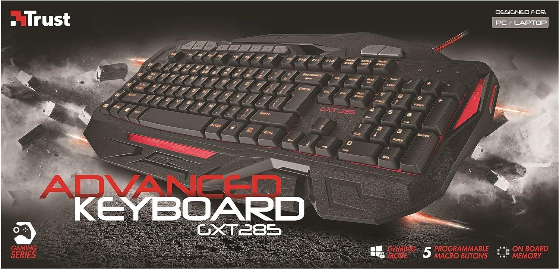 Trust Gaming GXT 285 - Teclado Para Gaming, Iluminación LED (PC)