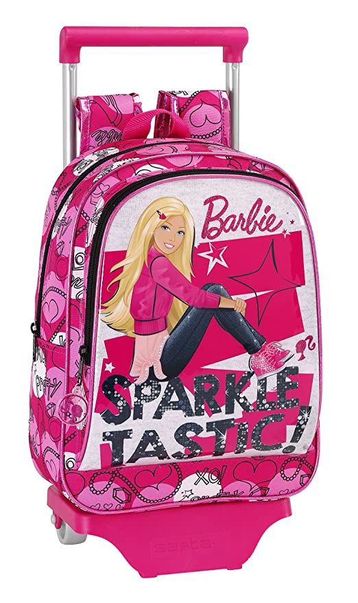 Barbie - Mochila carro infantil, 26 x 34 cm (Safta 611510020)