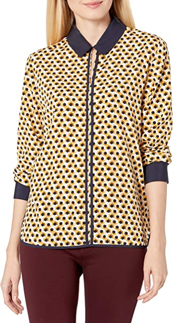 TOMMY HILFIGER Womens Long Sleeve Keyhole Blouse Shirt Top