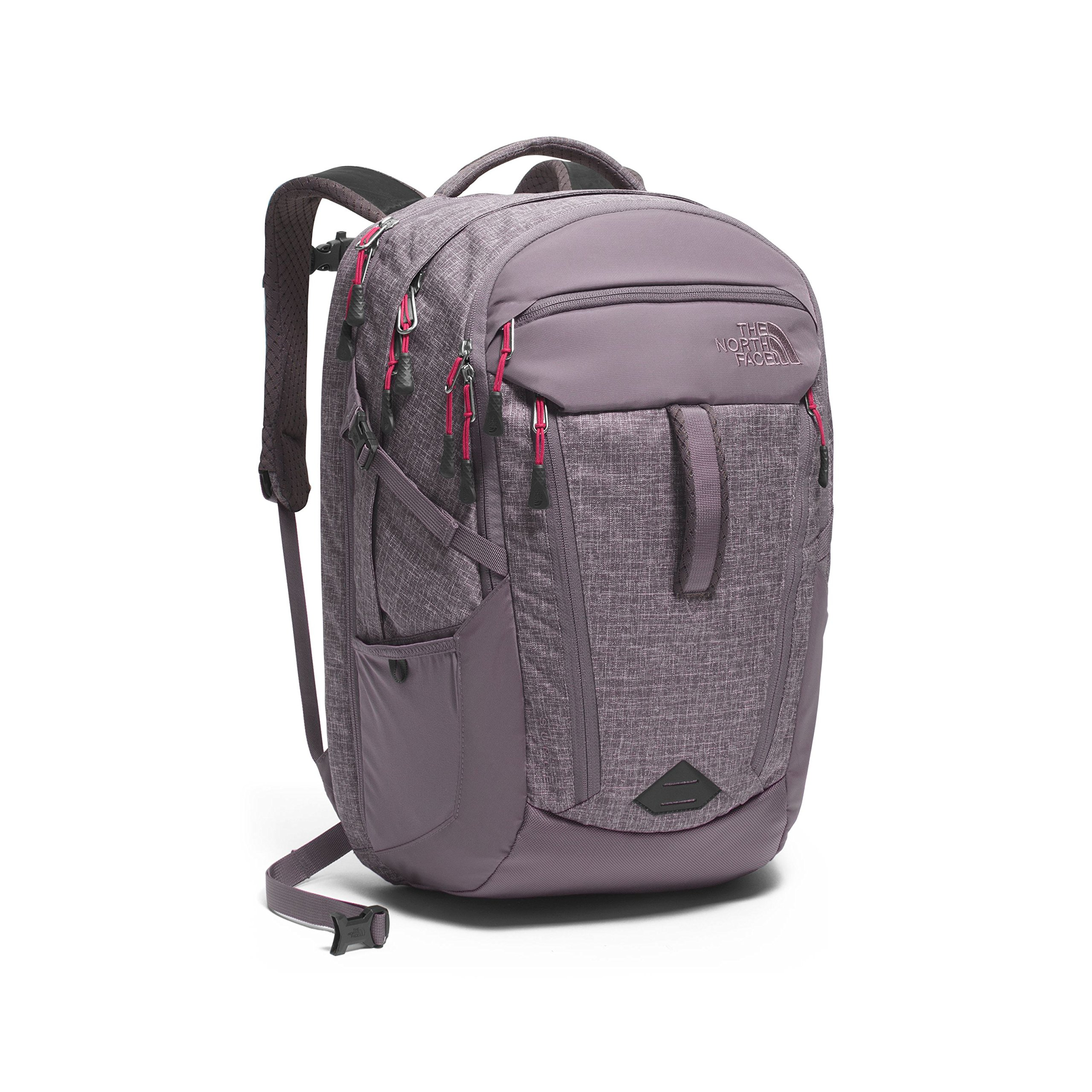 The North Face Women's Surge Laptop Backpack - 15'' (Rabbit Grey Heather/Cerise