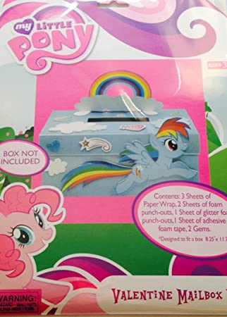 My Little Pony Valentine Mailbox Kit ~ BOX NOT INCLUDED