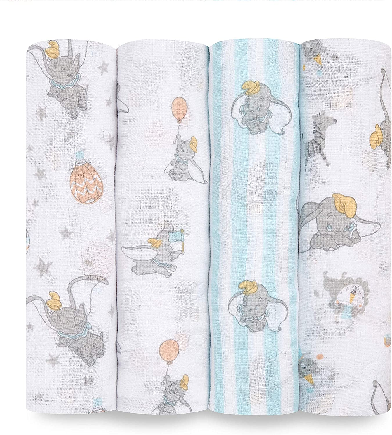 Dumbo New Heights 4-Pack,ESWC40007DIB Aden Essential Swaddle 100/% Muslin Cotton