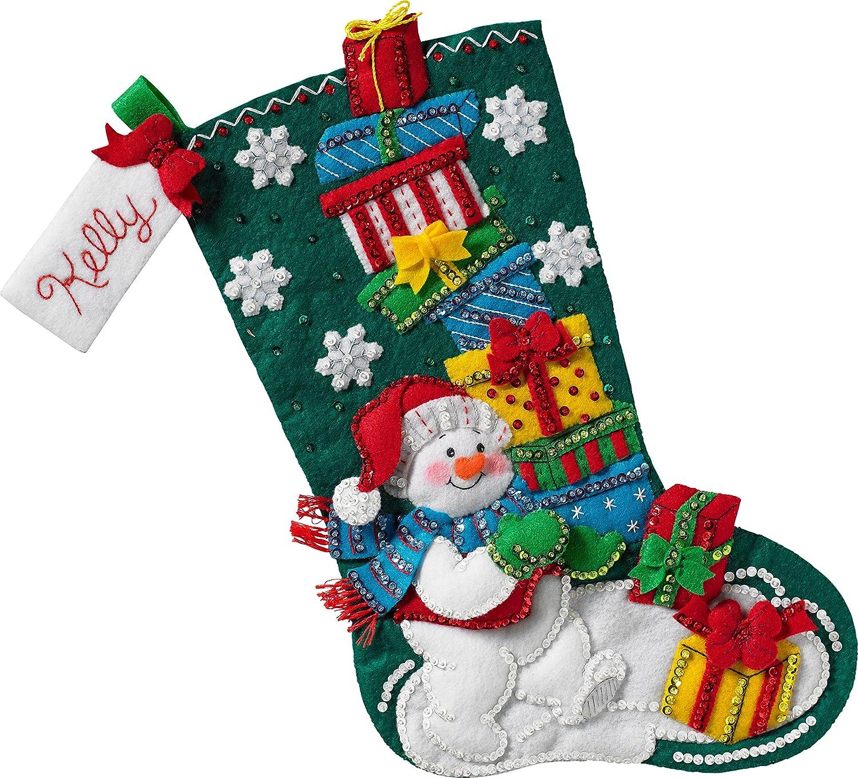 Bucilla 86864 Snowman with Presents Stocking Kit Plaid Enterprises Inc.