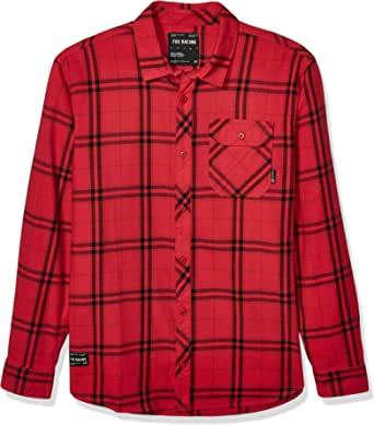 Fox Racing Mens 23827 Flannel Long Sleeves Button Down Shirt